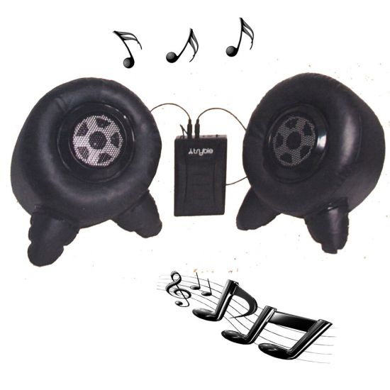 Inflatable iPod/MP3 Speakers