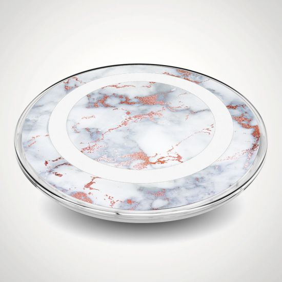 wireless charger marble grey background