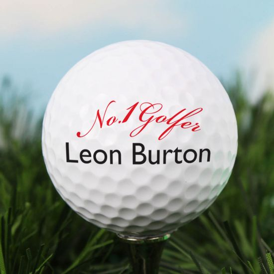 Personalised No1 Golfer Golf Ball 1