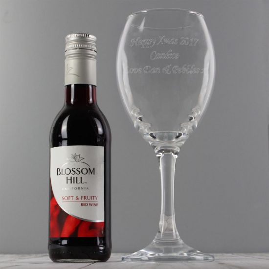 Personalised Wine Glass and Red Wine Set