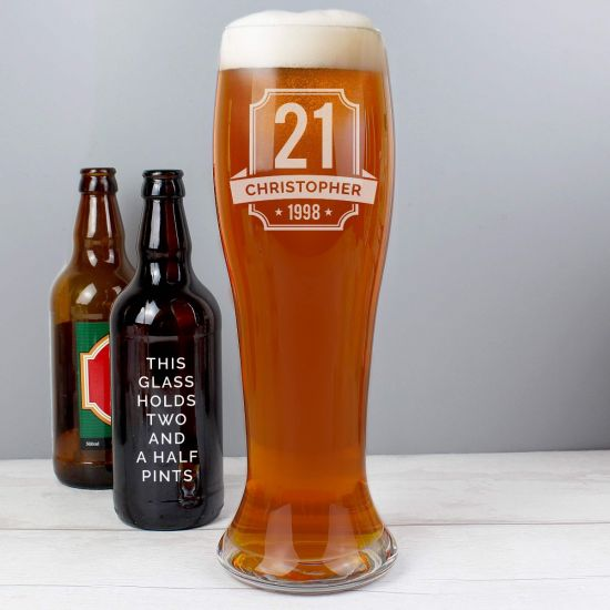 Personalised Big Age Giant Beer Glass - Lifestyle