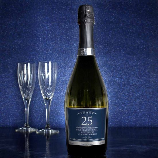 Personalised Birthday or Anniversary Bottle of Prosecco