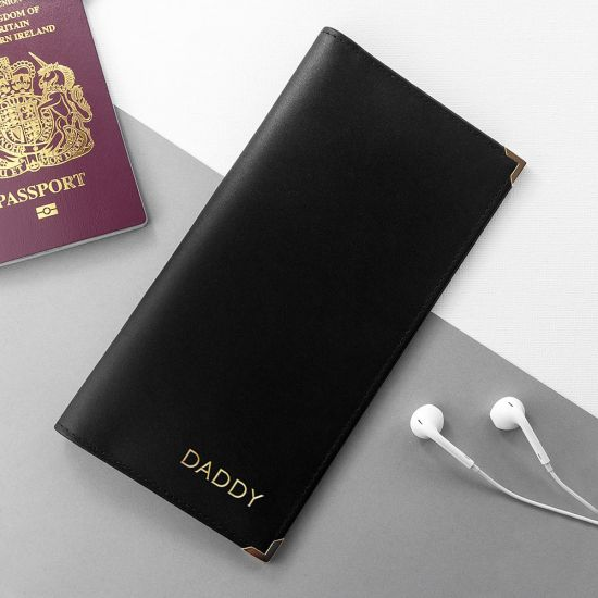 Personalised Luxury Leather Travel Wallet - Lifestyle