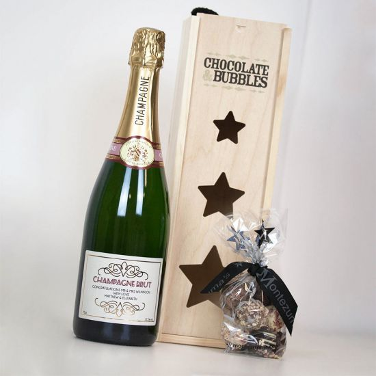 Personalised Champagne and Chocolates 1