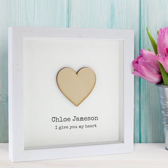 Personalised Heart Frame