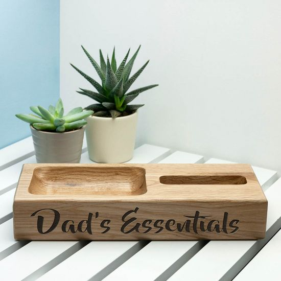 Personalised Oak Technology Stand 1