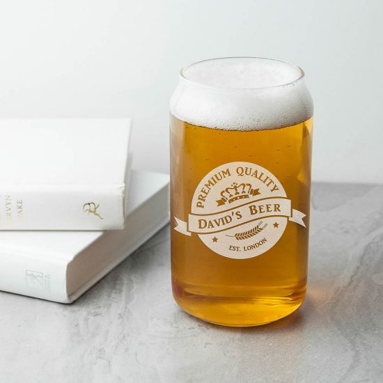 Personalised Premium Quality Beer Can Glass 1