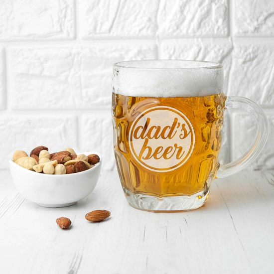 Personalised Statement Dimpled Beer Glass 1
