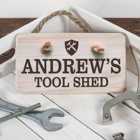 Personalised Wooden Tool Shed Sign 1