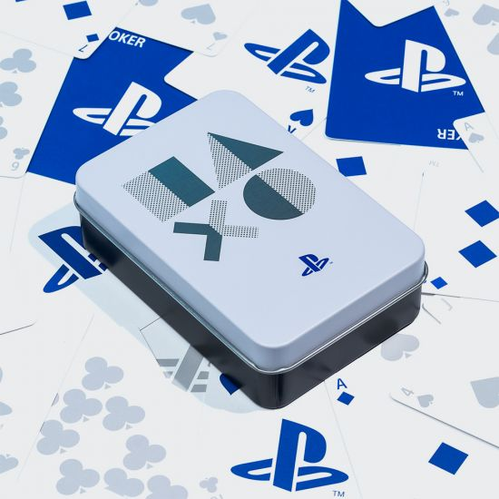 PlayStation Playing Cards in Metal Tin