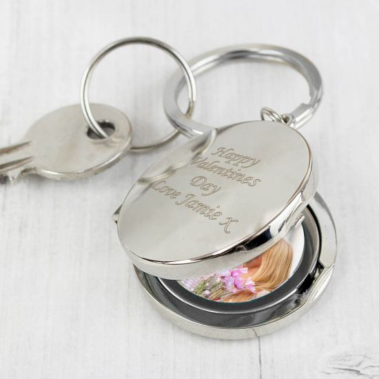 Round Photo Keyring 1