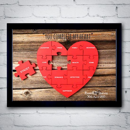 Personalised You Complete My Heart Poster