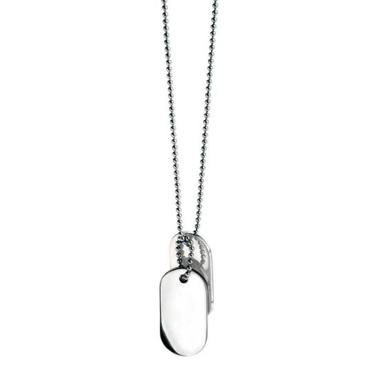 Stainless Steel Double Dog Tag Pendant