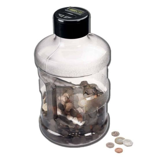 Super Size Digital Coin Counting Jar