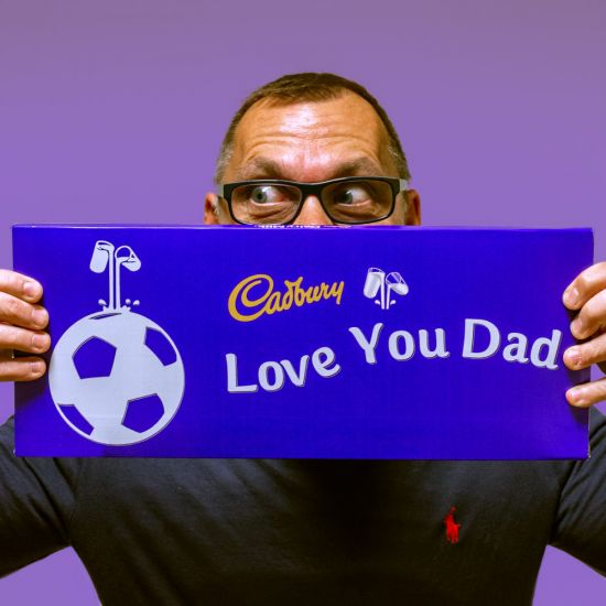Personalised Sports 850g Cadbury Dairy Milk Bar - Lifestyle