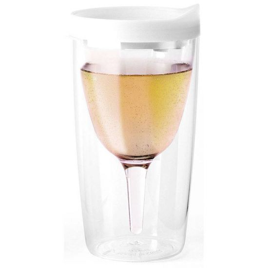 Vin2Go House White Portable Wine Glass