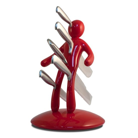 Voodoo Knife Block Red
