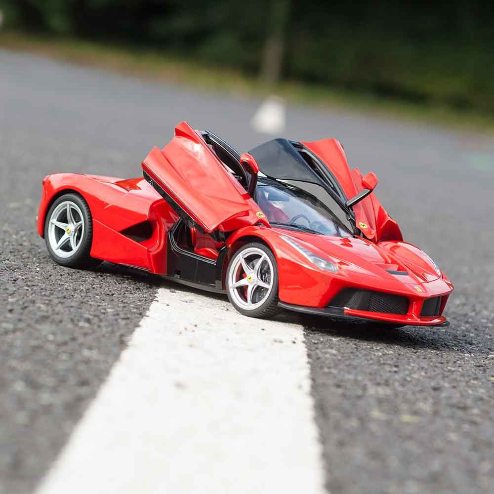 1/14 laferrari - cherry red ferrari rc toy for rc car fans | menkind