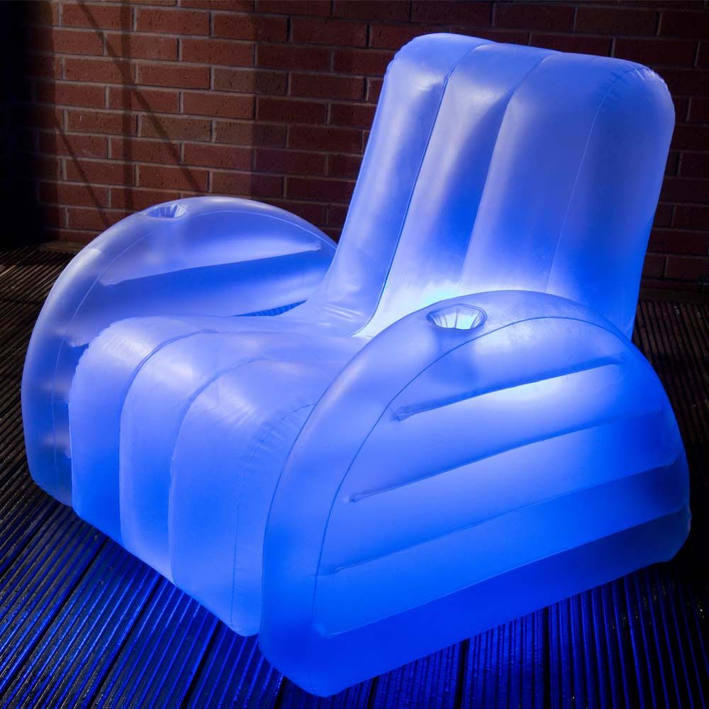 Inflatable led chair