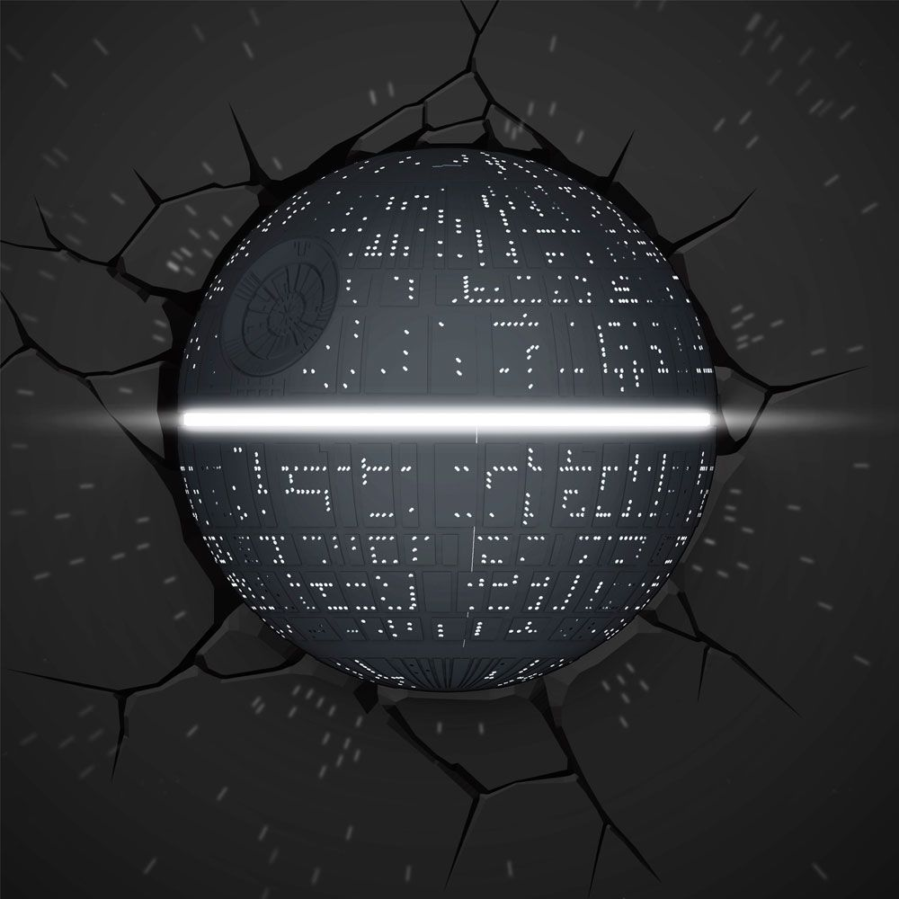 Star Wars Death Star 3d Deco Light Detailed Wall Light