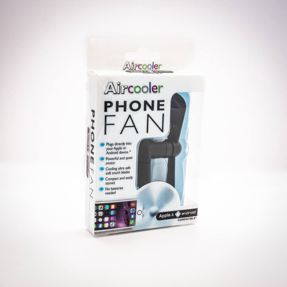 Aircooler Phone Fan Dual Adaptor For Android And Iphone Menkind