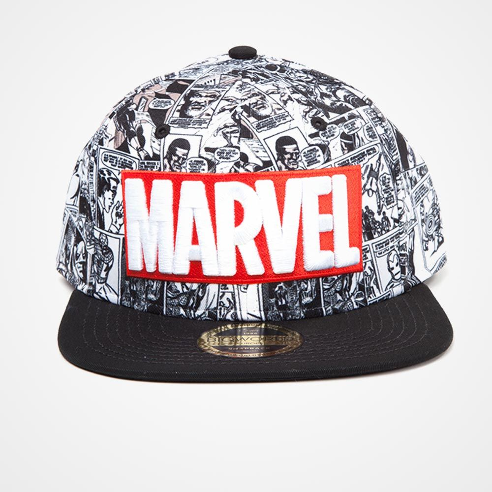 Marvel Classic Logo Snapback Cap. Tap to expand fcd7a29f6dc