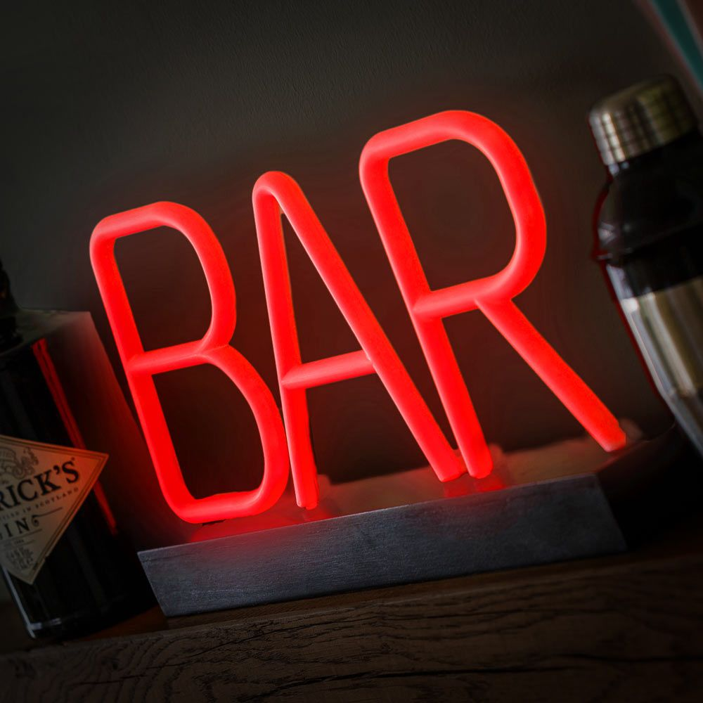 LED Light-Up Neon Bar Sign - Portable and Durable | Menkind