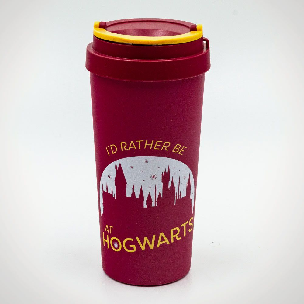 3b7b39351 ... Harry Potter (Rather be at Hogwarts) Eco Travel Mug - Grey Background  ...