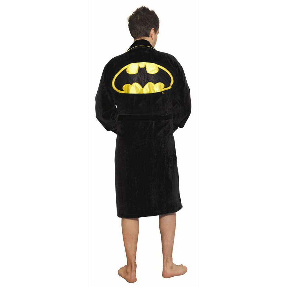 Batman Dressing Gown - Warm Fleece With Pockets | Menkind