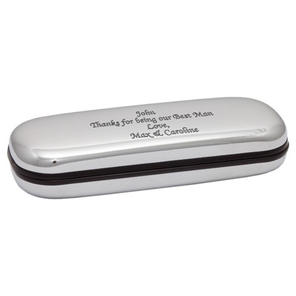 2f259396d5e Personalised Engraved Glasses Case Box - Chrome Engraved Glasses Case