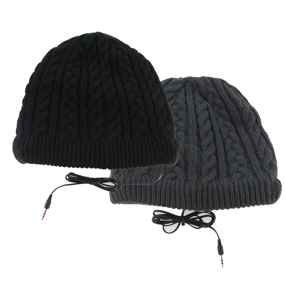 Full Cable Knitted Beanie Headphone Hat Full Cable Knitted Beanie Headphone  Hat f60f6387509