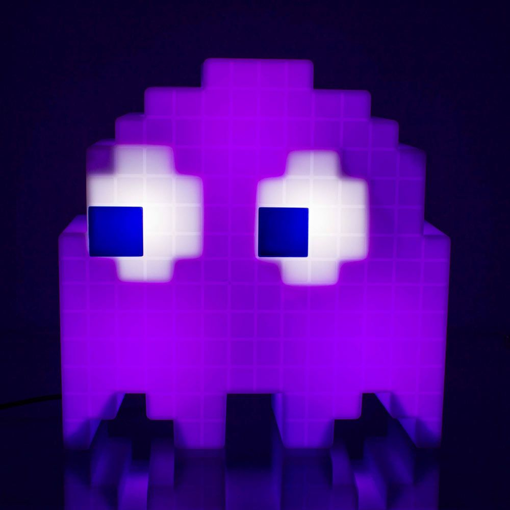 Attractive Pac Man Pixel Ghost Lamp   Cycles Through 16 Colours | Menkind