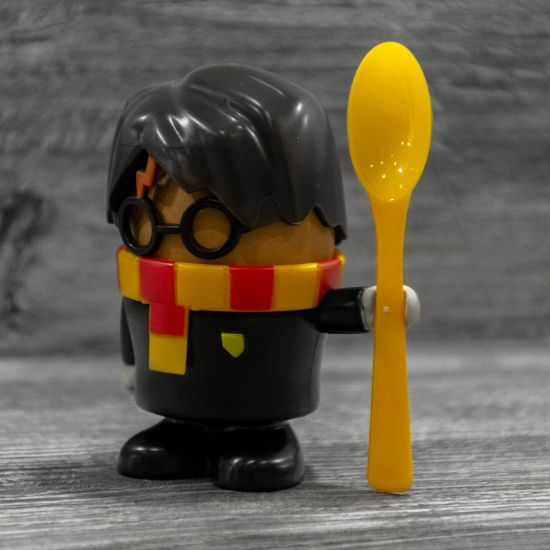 Harry Potter Egg Cup and Toast Cutter on a grey background