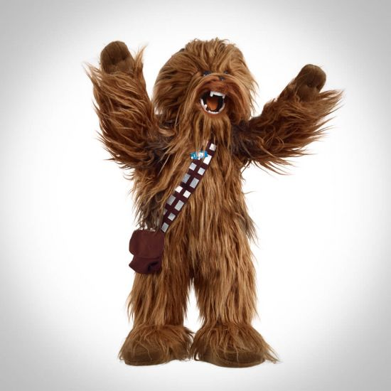 Star Wars 24-Inch Roaring Chewbacca Poseable Plush is a roaring pose on a grey background