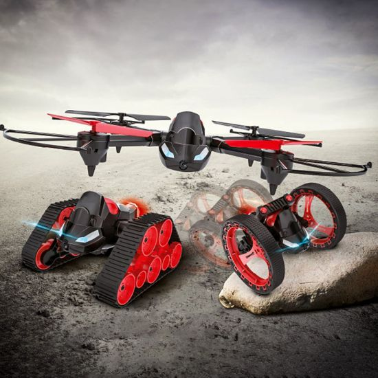 RED5 FX 3 in 1 Drone  showing all 3 vehicles