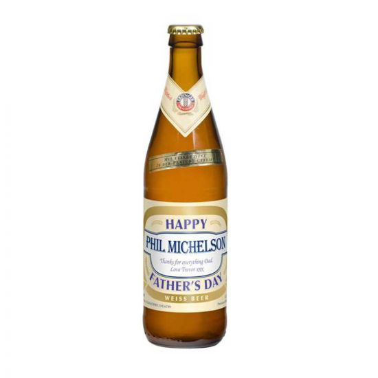 Personlised Wheat Beer With Father's Day Label