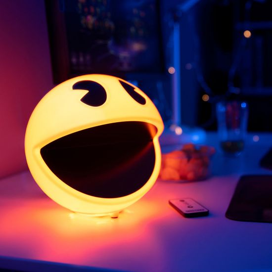 Pac-man Light on a desk at night