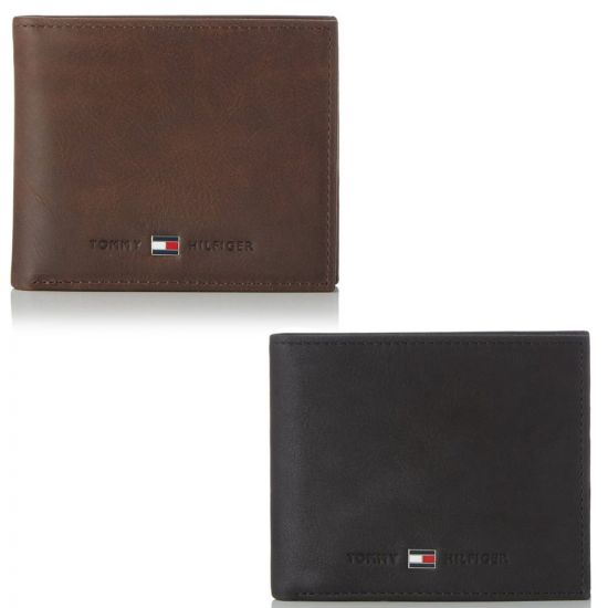 4ef2608076 Tommy Hilfiger Johnson Mini Credit Card Wallet - Premium Leather | Menkind
