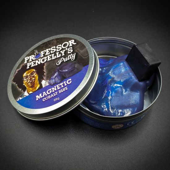 Professor Pengelly's Magnetic Putty Cobalt Blue tin open