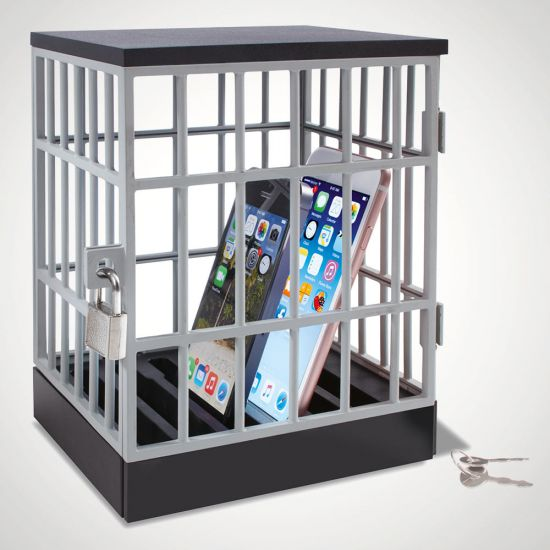Mobile Phone Jail - Grey Background