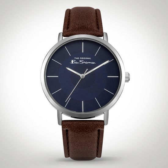 Ben Sherman BS014UBR Watch Brown on a grey background
