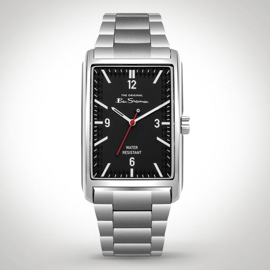Ben Sherman BS013BSM Watch Silver front view on a grey background