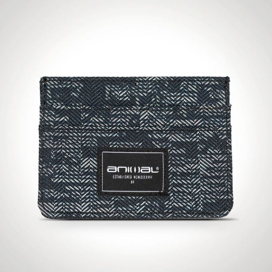 Animal Emphatic Card Wallet Black and Grey from the front