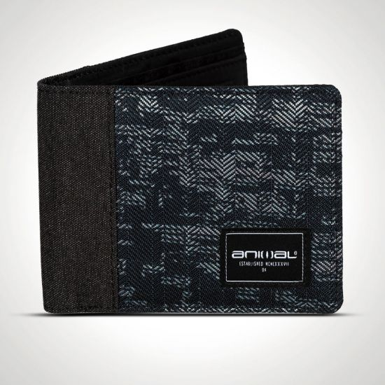 Animal Provoked Wallet Black and Navy front