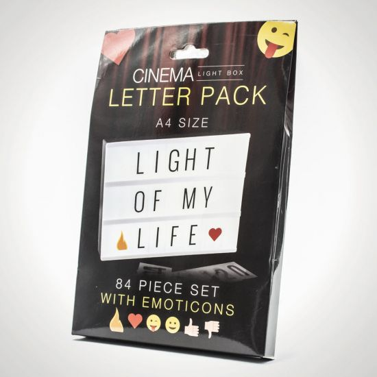A4 Cinema Light Box Extra Letter Pack
