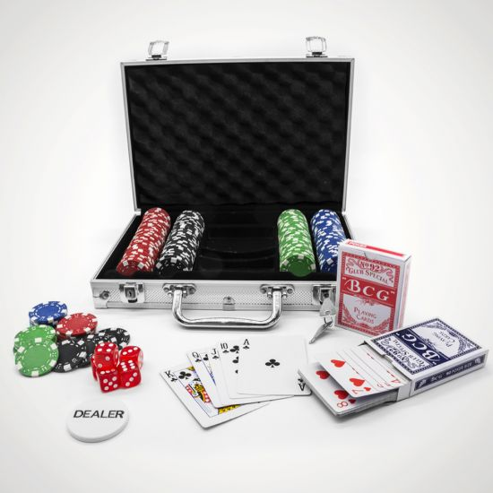 Professional Edition 200-Piece Poker Set - MenKind Exclusive - Grey Background