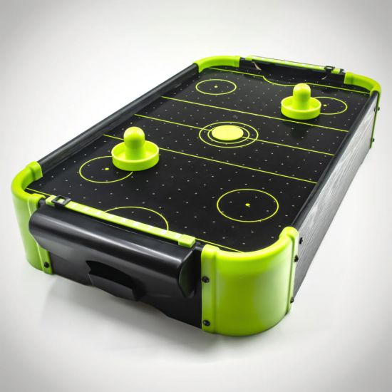 Neon Air Hockey Tabletop Game Battery Powered Menkind