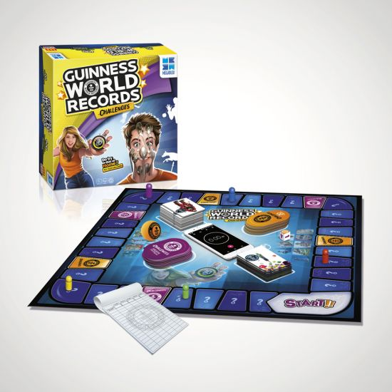 Guinness World Records Challenges Board Game on a grey background