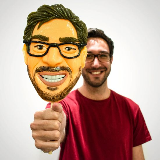 Giant Personalised Face Lollipop