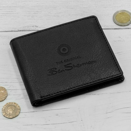 Ben Sherman Dack Leather Coin Wallet - Black - on lifestyle Background
